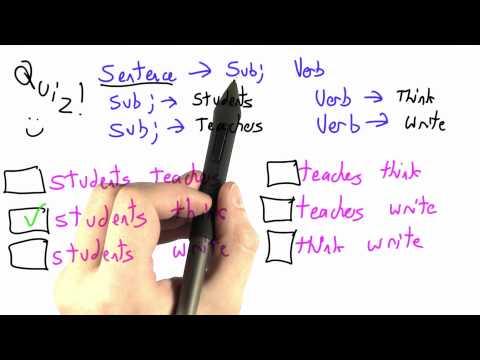 Deriving Sentences Solution - CS262 Unit 3 - Udacity