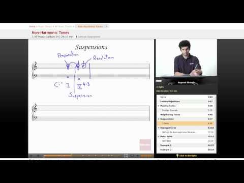 AP Music Theory Lesson: Non-Harmonic Tones