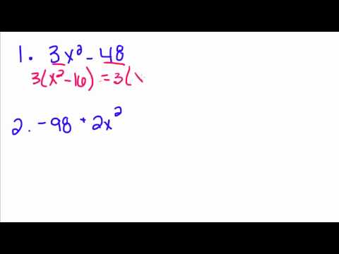 Algebra Tutorial - 23 - Factoring the Difference of Squares