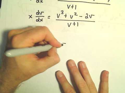 Change of Variables / Homogeneous Differential Equation - Example 4