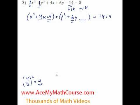 Conics - General to Standard Form #3