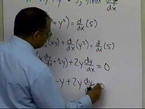 Implicit Differentiation in Differential Calculus: Example Two