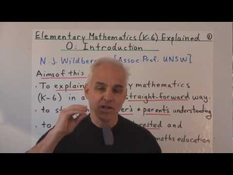 Elementary Mathematics (K-6) Explained 0: Introduction