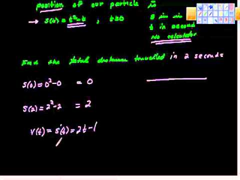 AP Calculus AB Particle Motion Pt II Free Response Example