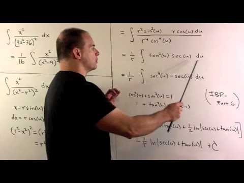 Trig Sub Integral of x^2/(4x^2-36)^2
