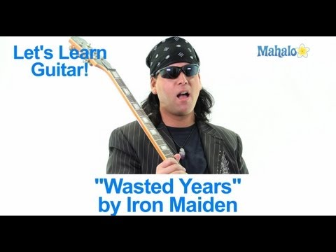 "How to Play ""Wasted Years"" by Iron Maiden on Guitar"