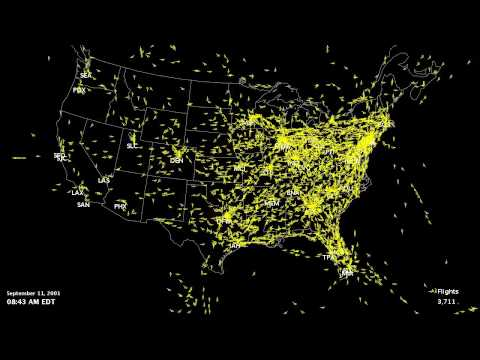 September 11: FAA Closure of US Airspace