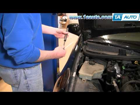 How To Install Replace Sagging Hood Support Strut Lincoln Town Car 98-02 1AAuto.com