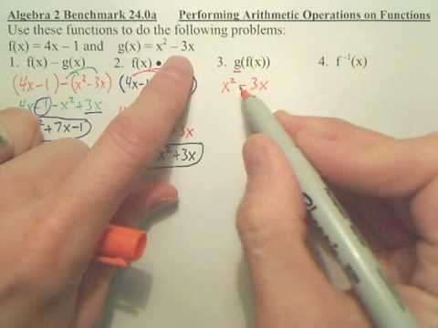 Benchmark 24a - Algebra 2