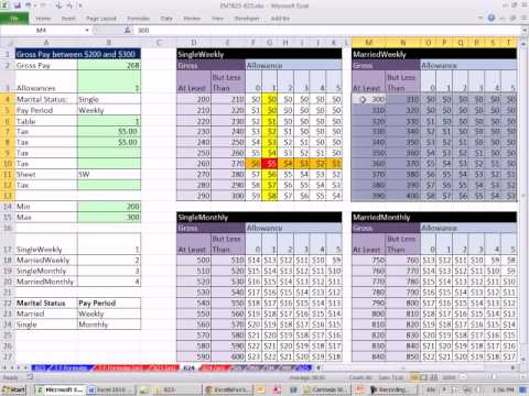 Excel Magic Trick 824: Two Way Lookup With More Than One Lookup Table Same or Different Sheets
