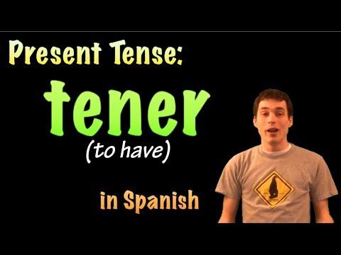 01035 Spanish Lesson - Present Tense - Tener