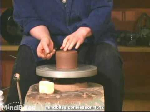 How to Make Pottery: How to Trim Cylinders