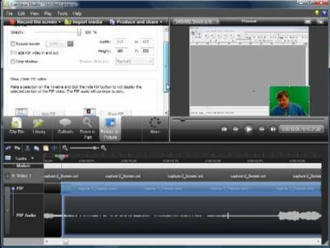 Camtasia Workshop Part 3: Editing the Timeline with a PIP
