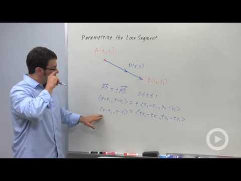 Precalculus - Finding Intersections Using Parametric Equations