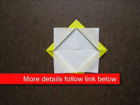 How to Fold Easy Origami Sunflower - OrigamiInstruction.com