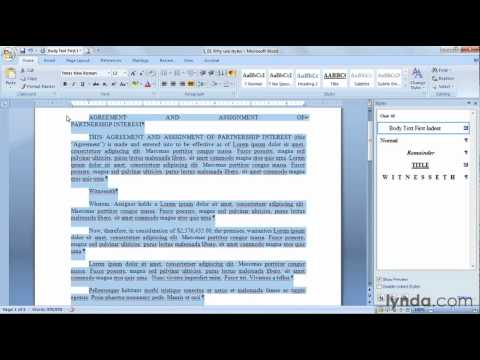 Introducing styles in Microsoft Word   lynda.com overview