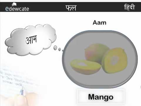 Learn Hindi : Fruits
