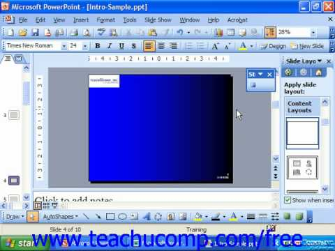 PowerPoint 2003 Tutorial Recording Macros Microsoft Training Lesson 26.1