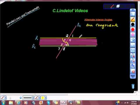 Geometry Alternate Interior and Alternate Exterior Angles Transversals