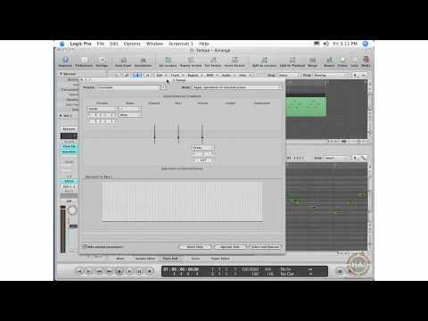 Apple Logic Pro 8 Ch 20 Advanced MIDI Processing - The MIDI Transform Menu