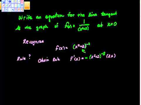 Write an Equation for the line tangent to the graph Ap Calculus