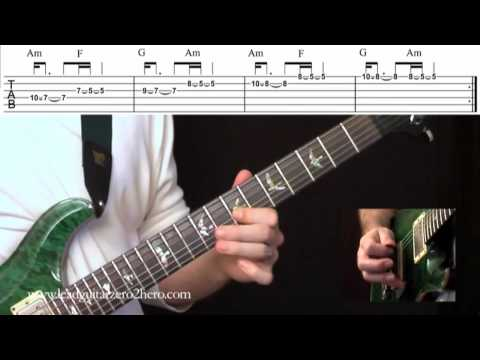 """19 Learn Electric Guitar """"Combining Articulation Techniques 3&4"""" - Rock Guitar Lesson"""