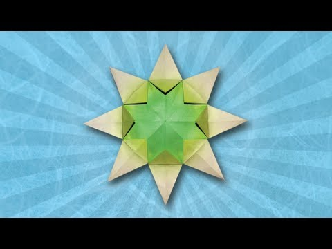 Origami Sunburst Star (Folding Instructions)