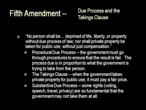 Chapter 5 Constitutional Law (Part 2 of 2)