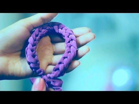 DIY Finger Knit Bracelet | DIY Fabric Bracelet