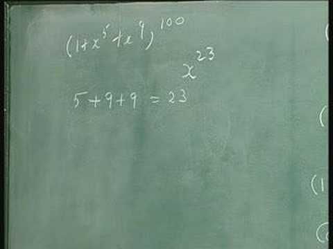 Lecture 30 - Generating Functions