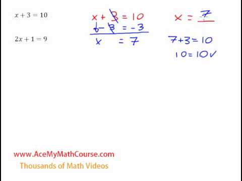 One Step & Two Step Equations - Introduction