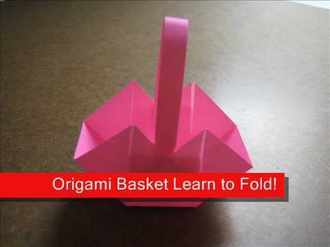 How to Fold Origami Cute Basket - OrigamiInstruction.com