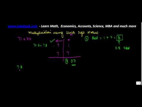 1293. Vedic Maths   Multiply Unit Place Method Problem 1
