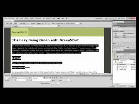 Dreamweaver Tutorial : How to Create a Web Page in Adobe Dreamweaver CS5