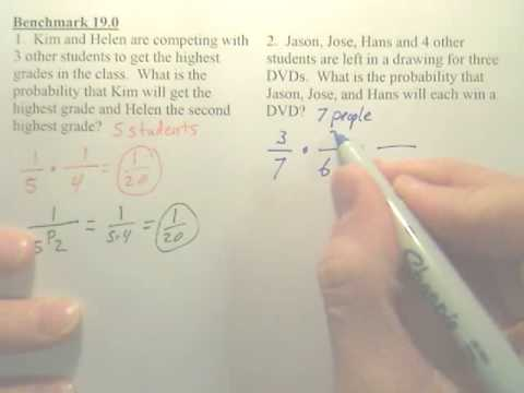 Benchmark 19 - Probability Using Permutations and Combinations - Algebra 2