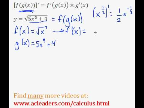Calculus - CHAIN RULE - finding the derivative (pt.4)