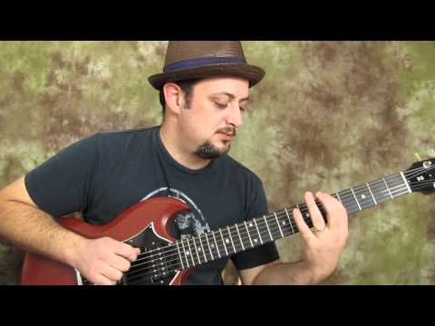 A major pentatonic run - easy electric guitar lesson