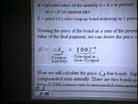 MBA Intro Finance: 1. Bond Valuation