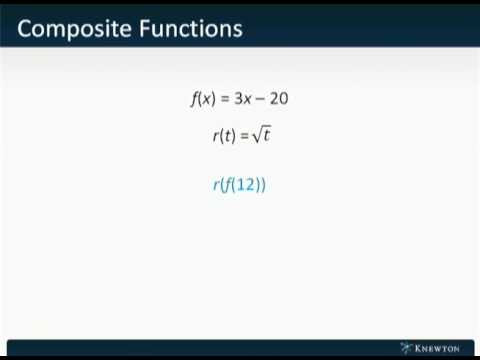 GMAT Prep - Math - Algebra - Composite Functions by Knewton