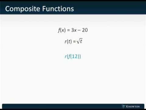 GMAT Prep - Math - Algebra - Composite Functions by Knewton