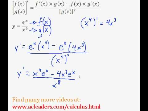 Quotient Rule - Finding the Derivative (Calculus) - (pt. 3)