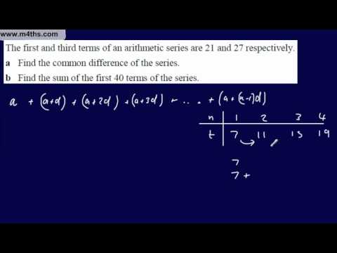 (3) Core 1 Arithmetic Sequences & Series (More Summing basic series)