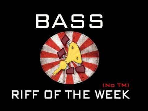 Bass Riff of the week # 14 (Finger pickn')