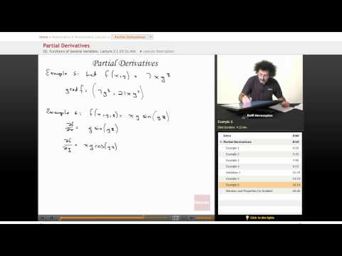 Multivariable Calculus: Partial Derivatives