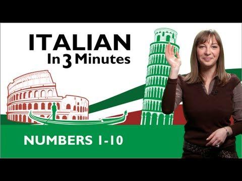 Learn Italian - Italian Numbers 1-10