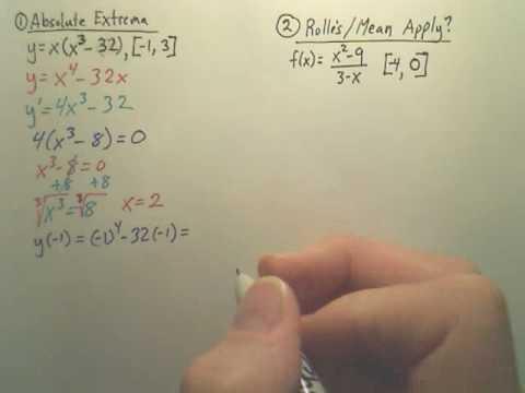 3.1-3.3 Quiz Review p1 - Calculus