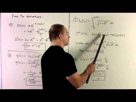 Derivatives with e^x
