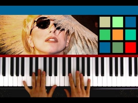"""How To Play """"The Edge Of Glory"""" Piano Tutorial (Lady Gaga) feat. punkchyaz"""