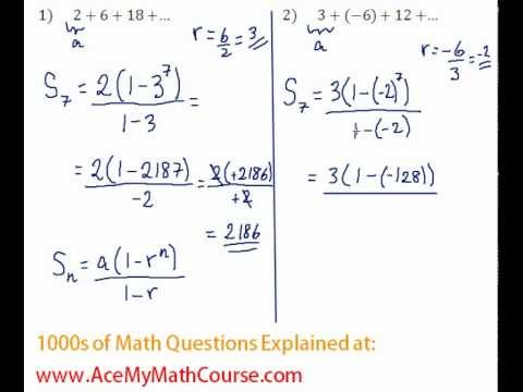 Geometric Series - Find the Sum #2
