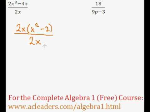 (Algebra 1) Rational Expressions - Simplifying #3